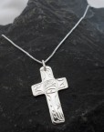 Vincent Henson Sterling Silver Native Eagle-Cross Necklace