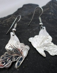 Nancy Dawson Sterling Silver Native Butterfly Earrings