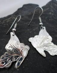 Nancy Dawson Sterling Silver Native Butterfly Earrings