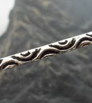 Sterling Silver Bangle with Detailed Swirl Pattern Designed and made in India