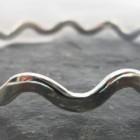 Polished Sterling Silver Wavy Bangle Bracelet