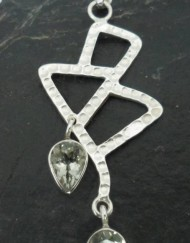 Sterling Silver Double Tear-drop Prasiolite Pendant