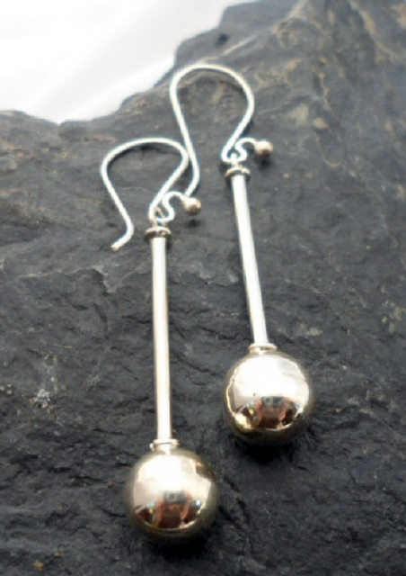 Sterling Silver Post and Ball Earrings Made in India