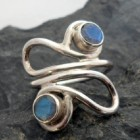 Sterling Silver Designer Labradorite Ring ~Designed in India