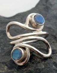 Sterling Silver Designer Labradorite Ring ~Designed in India
