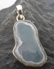 Sterling Silver Faceted Solar Quartz Pendant ~Made and Designed in India
