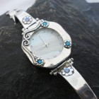 Sterling Silver Opal and Mother of Pearl Watch