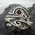 Sterling Silver Designer Garnet Ring
