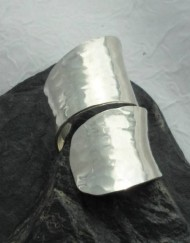Hammered Sterling Silver Wrap Around Saddle Ring