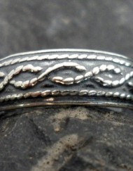 Sterling Silver Twisted Rope Toe Ring