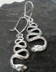Sterling Silver Snake Earrings