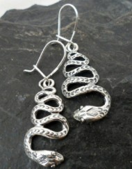 Sterling Silver Snake Earrings