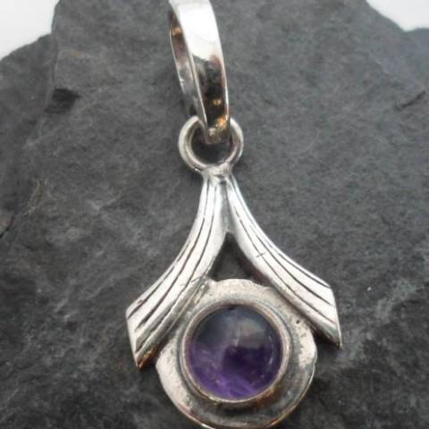 Sterling Silver Amethyst Pendant