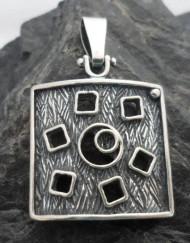 Sterling Silver Geometric Designer Pendant