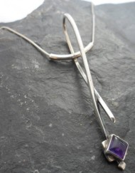 Designer Sterling Silver Amethyst Necklace
