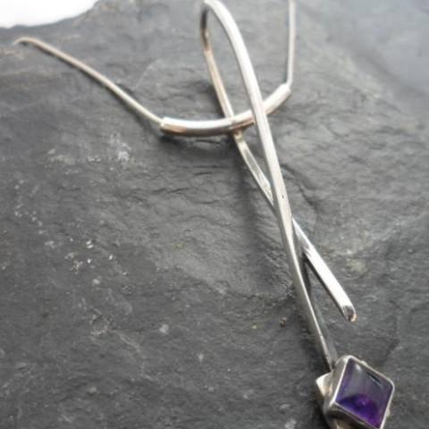 Designer Sterling Silver Amethyst Necklace