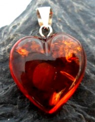 Baltic Amber Heart Pendant