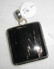 Sterling Silver Black Rutilated Quartz Pendant