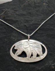 Sterling Silver Native Bear Necklace