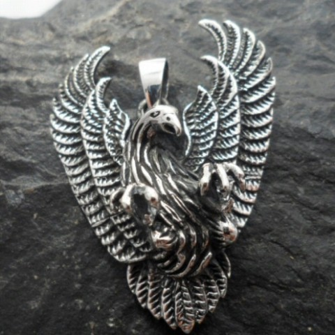 Sterling Silver Large Eagle Pendant