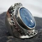 Sterling Silver Kyanite Saddle Ring sz 7.75 ~Designed in Israel