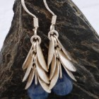 Sterling Silver Kyanite Leaf Drop Earrings