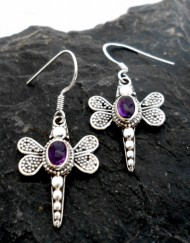 Sterling Silver Filigree Dragon-Fly Earrings