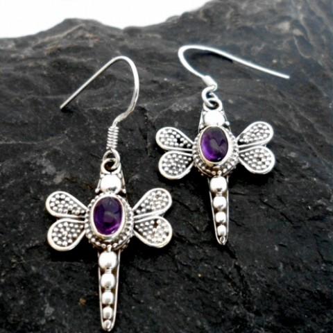 Sterling Silver Filigree Dragon-Fly Earrings