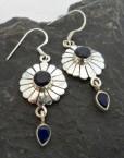 Sterling Silver India Sapphire Drop Earrings