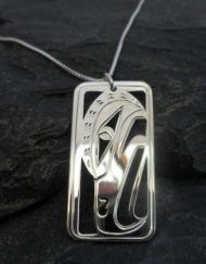 Vincent Henson Sterling Silver Raven Necklace