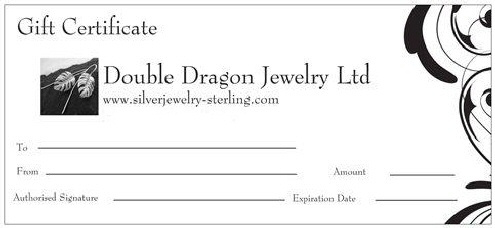 Double Dragon Jewelry Ltd Gift Certificat