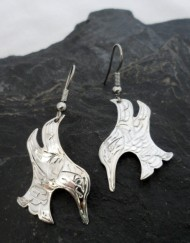 Sterling Silver Native Hummingbird Earrings