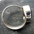Sterling Silver Smoky Quartz Ring sz 6.75