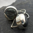 Sterling Silver Modern Style Labradorite Earrings