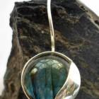 Sterling Silver Modern Style Labradorite Earrings