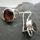 Sterling Silver Smoky Quartz Drop Earrings