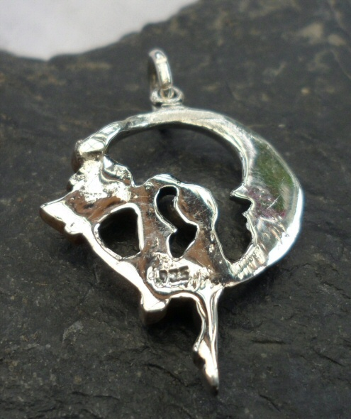Sterling Silver Moon Fairy Pendant or Charm
