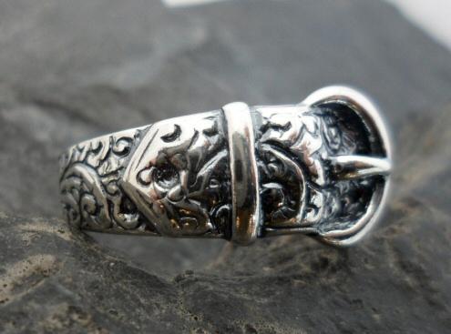Sterling Silver Belt Buckle Ring
