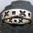 Sterling Silver X and O Ring size 8