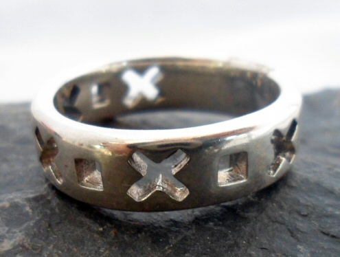 Sterling Silver X and O Ring
