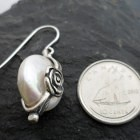 Sterling Silver Coin Pearl Earrings