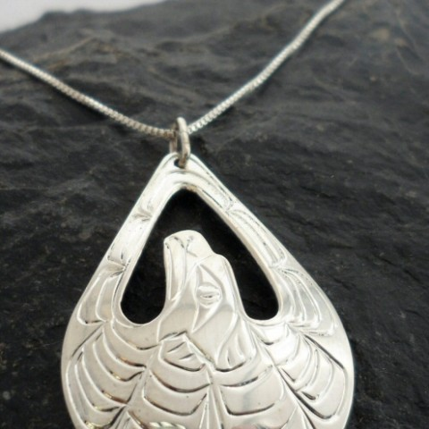 Sterling Silver Eagle Necklace from Vincent Henson