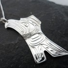 Vincent Henson Sterling Silver Native Raven Necklace