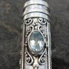 Sterling Silver Blue Topaz Cremation Pendant