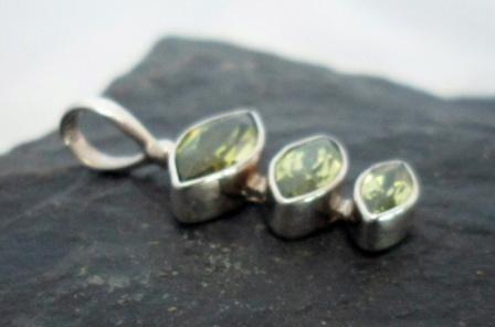 Cascading Sterling Silver Peridot Pendant