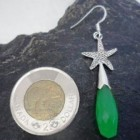 Sterling Silver Emerald Starfish Earrings