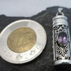 Sterling Amethyst Cremation/Ash Pendant