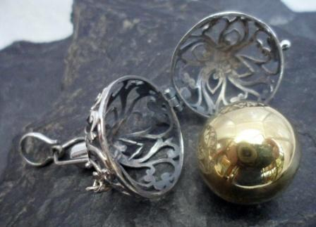Filigree Sterling Silver Harmony Ball Pendant