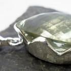 Large Sterling Silver Tear-drop Prasiolite Pendant