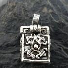 Miniature Sterling Silver Box Pendant